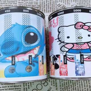 Hello Kitty Stitch Coin Bank Ipon Challenge