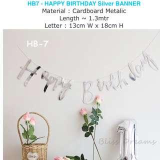 HB-7 Happy Birthday Sliver Bunting