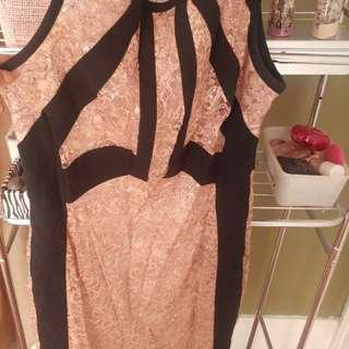 Ivanka trump size medium pink sequin dress