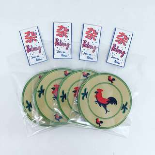 Chapalang Rooster Bowl Iron On Patch