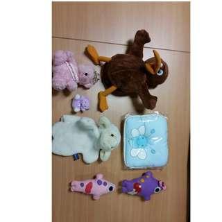 Lot of 7 pcs of stuffed toys!