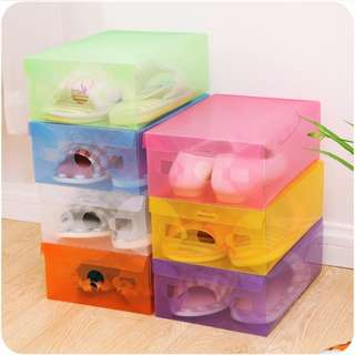 [BUY 1 GET 1 FREE] Transparent Shoes Box | Kotak Sepatu