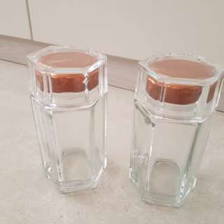 Hexagon Glass Bottles/ Jars/ Containers