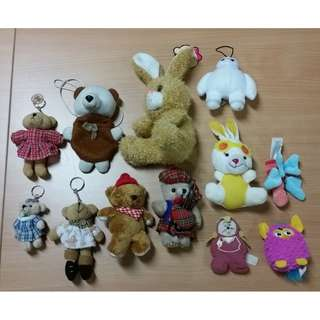 Lot of 12 pcs of stuffed toys!