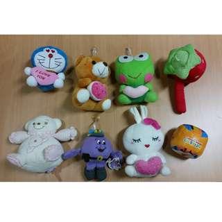 Lot of 8 pcs of stuffed toys!