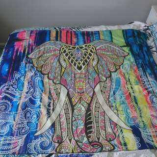 Vibrant elephant wall decor