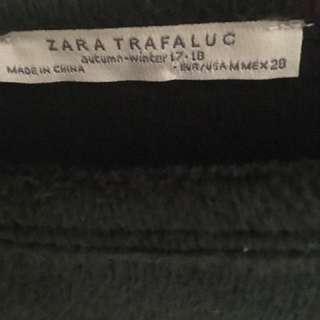 ZARA FLEECE TOP GREEN NEW WITH TAGS