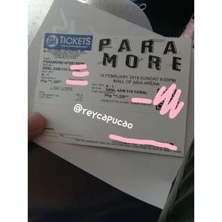 SELLING: Paramore Ticket GA