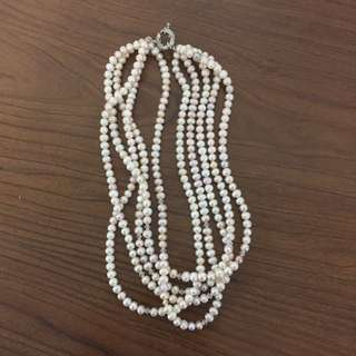 Peak necklace with Swarovski  5 strands