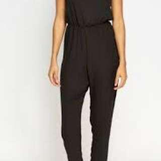 Romper / jumpsuit elegant black