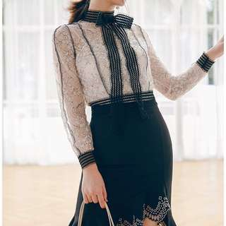 Exquisite Lace Blouse French style