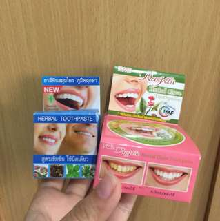 Whitening herbal toothpaste