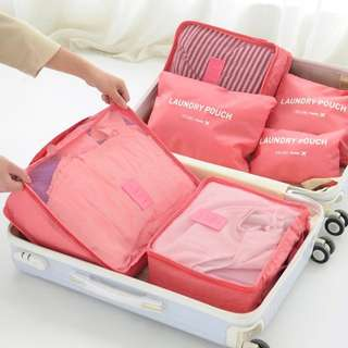 Travel Organiser 6pcs Waterproof Bag Storage Luggage Organizer Pouch