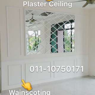 Wainscoating & Plaster Ceiling