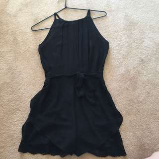 Sheer Lace Black Playsuit