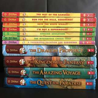 [#Huat50sale] 11 Geronimo Stilton Story Books SALE