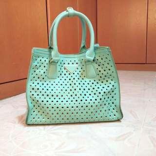 Daphne light blue / turqoise tote bag