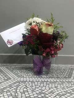 Sephora themed floral arrangement