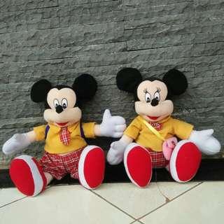 (Sepaket) Boneka Mickey & Minnie Mouse