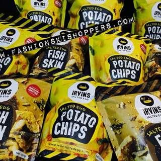 Irvin's Salted Egg Potato chips Fish Skin