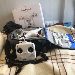 DJI Phantom 3 Standard with extra battery and backpack