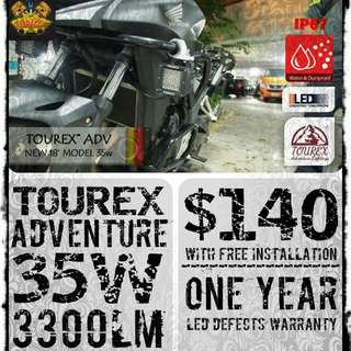 TOUREX™ ADVENTURE (ADV)™ 35w 3300LM TOURING LIGHT (NEW 2018)