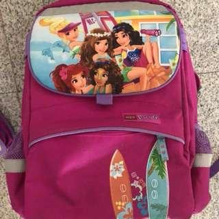 Lego friends school bag + pencil Case + pouches