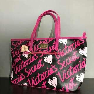 Victoria's Secret Tote Bag Black/Pink Color