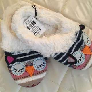 Cute owl slippers