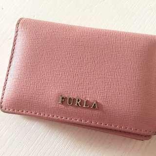 Furla pink 粉紅card holder銀包
