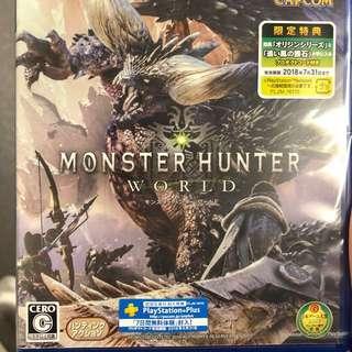PS4 Monster hunter World 日版