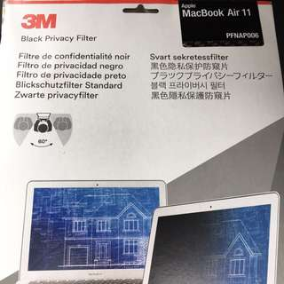 3M MacBook Air 11 black privacy filter