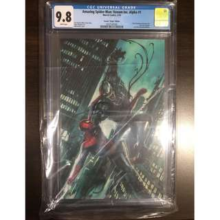 CGC 9.8 AMAZING SPIDER-MAN VENOM INC ALPHA #1 ADI GRANOV VIRGIN VARIANT