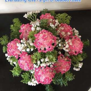 Everlasting love - a gift of beaded roses in a bouquet