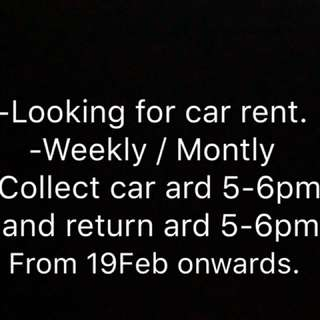 I want to rent a car weekly / monthly