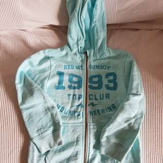 H&M light blue jacket hoodie size 110