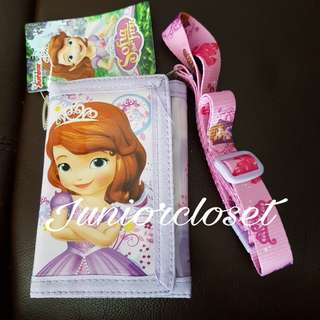 [Juniorcloset] 🆕 Authentic Disney Princess Sofia wallet with lanyard R.P$12.9