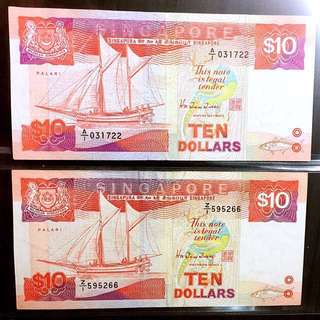 🌟A1🌟Z1🌟ship series ten dollar first prefix and replacement note