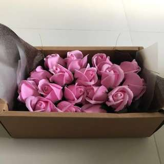 Roses in the box-Valentine day🚗🎁Delivery Services soap Flower 🎁🚗