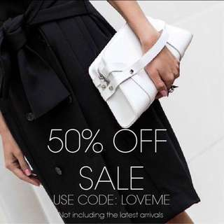 All bags 50% off free shipping