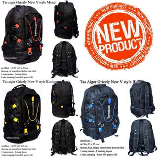 Tas Ransel Pria Aiger Grizzly New V style