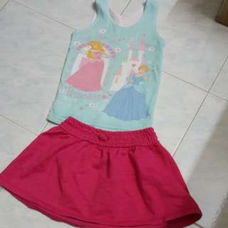 Girl's blouse + skirt 2yo