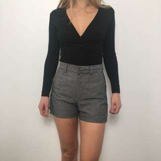 American Apparel black cross over top