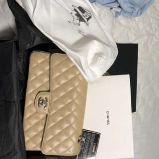 Chanel classic double flag medium  size