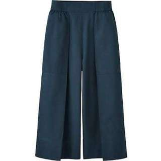 Uniqlo Blue Square Pants/Cullotes