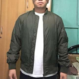 Uniqlo Olive Green Bomber Jacket
