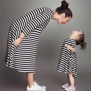 Mother & Daughter Dress (Stripes)