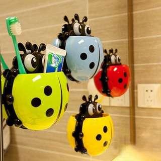 Ladybug Toothbrush Holder | Tempat Sikat Gigi Odol Kumbang