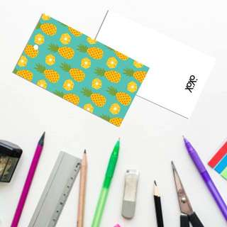 Pineapple pattern design bookmark gift tags