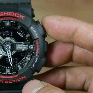 Jam Tangan Pria Casio G-Shock Ga-110 HR ORIGINAL